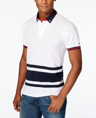 Tommy Hilfiger Men's Big and Tall Derussy Stripe Polo