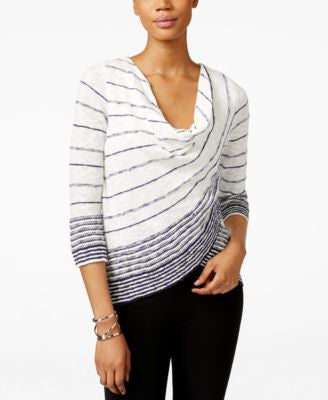 INC International Concepts Draped Tulip-Hem Top, Only at Vogily