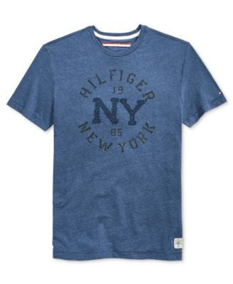 Tommy Hilfiger Big and Tall Men's Denim Curve Graphic-Print T-Shirt