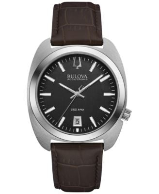 Bulova Accutron II Men's Brown Leather Strap Watch 40mm 96B253