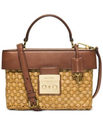 MICHAEL Michael Kors Straw Gabriella Medium Satchel