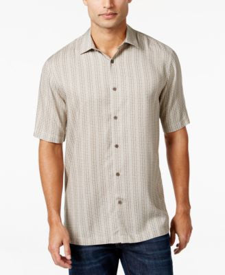 Alfani Short-Sleeve Dash-Print Shirt, Only at Vogily