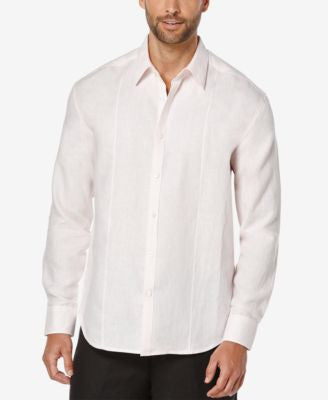 Cubavera Men's Gingham Linen Long-Sleeve Shirt