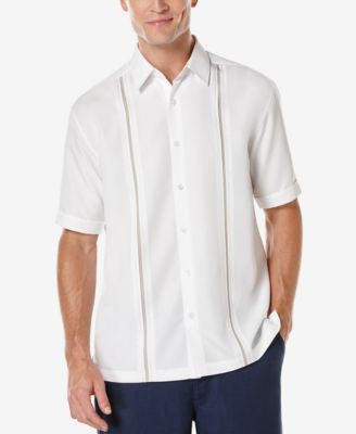 Cubavera Men's Big and Tall Short-Sleeve Contrast Shirt
