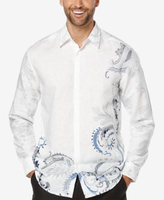 Cubavera Men's Linen Showstopper Long-Sleeve Shirt