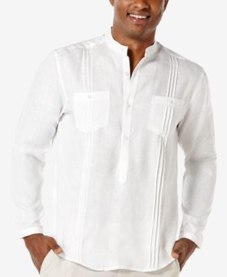Cubavera Men's Linen Popover Long-Sleeve Shirt