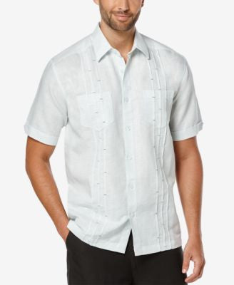 Cubavera Men's Bar Tacks Short-Sleeve Shirt