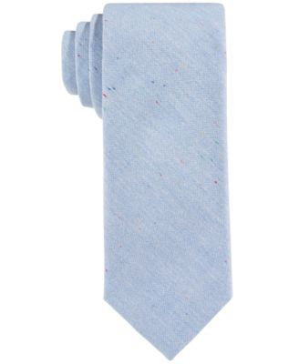 Con.Struct Men's Blue Donegal-Fleck Slim Tie