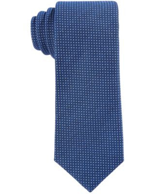 Con.Struct Men's White Mini-Dot Slim Tie