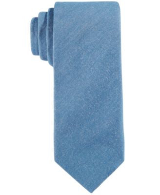Con.Struct Men's Indigo Solid Slim Tie