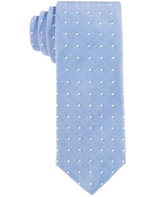 Con.Struct Men's Blue Oxford Dot Slim Tie