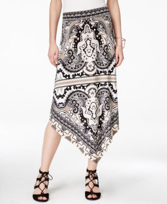 INC International Concepts Printed Asymmetrical Maxi Skirt, Only at Vogily