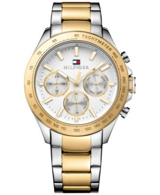 Tommy Hilfiger Men's Sophisticated Sport Two-Tone Stainless Steel Bracelet Watch 44mm 1791226