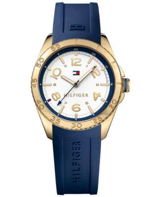 Tommy Hilfiger Women's Everyday Sport Navy Silicone Strap Watch 34mm 1781637