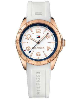 Tommy Hilfiger Women's Everyday Sport White Silicone Strap Watch 34mm 1781636