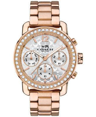 COACH WOMEN'S LEGACY SPORT ROSE GOLD-TONE STAINLESS STEEL BRACELET WATCH 36MM 14502371