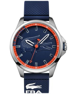 Lacoste Men's Capbreton Blue Silicone Strap Watch 46mm 2010842