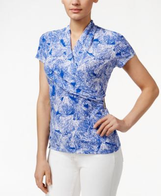 Charter Club Crossover Wrap Top, Only at Vogily