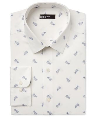 Bar III Men's Slim-Fit Buggy-Print Dress Shirt, Only at Vogily