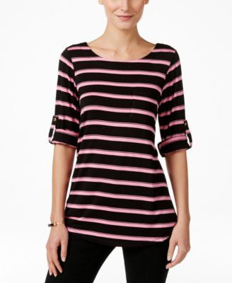 Cable & Gauge Striped Knit Tee