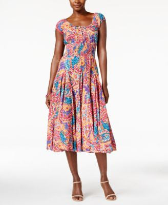 Grace Elements Printed Peasant Dress