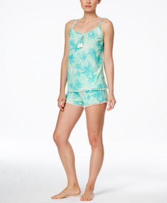 PJ Couture Printed Camisole Top and Shorts Pajama Set
