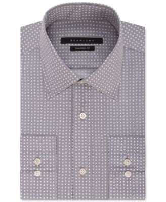 Sean John Men's Grey Triangle-Print Dress Shirt