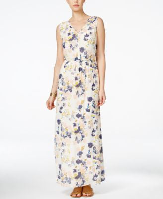 Lucky Brand Floral Spritz Printed Maxi Dress
