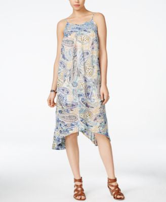 Lucky Brand Paisley-Print Midi Shift Dress