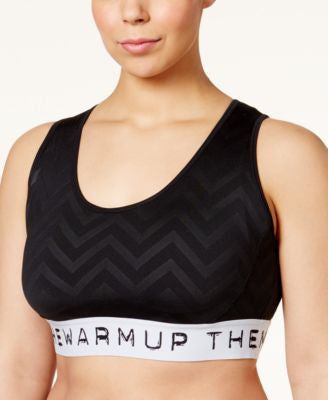 Jessica Simpson The Warmup Plus Size Printed Sports Bra