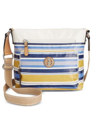 Giani Bernini Coated Canvas Multi Stripe Crossbody, Only at Vogily