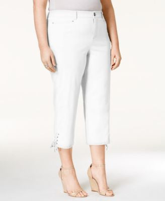 Style & Co. Plus Size Tummy-Control Capri Pants, Only at Vogily