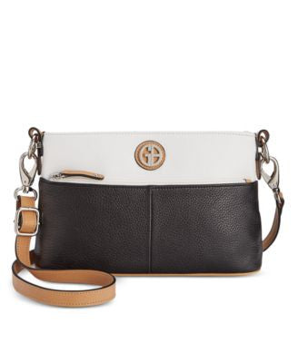 Giani Bernini Pebble Leather Colorblock Crossbody