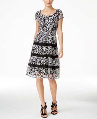 NY Collection Lace A-Line Dress