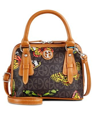 Giani Bernini Butterfly Print Mini Dome Satchel, Only at Vogily