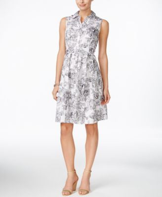 Charter Club Petite Printed Shirtdress, Only at Vogily