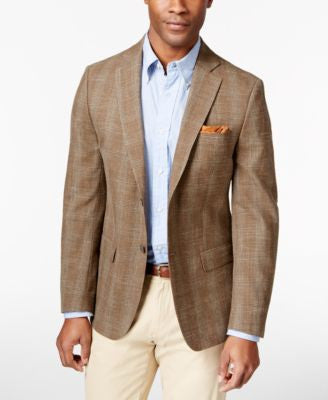 MICHAEL Michael Kors Men's Lancaster Windowpane Classic-Fit Sport Coat