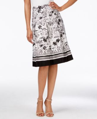 Charter Club Printed A-Line Skirt, Only at Vogily