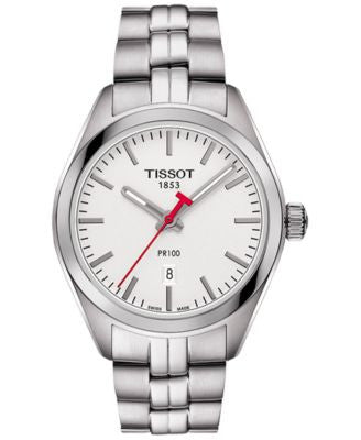 Tissot Women's Swiss NBA PR100 Lady Stainless Steel Bracelet Watch 33mm T1012101103100