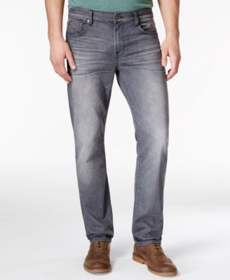 7 For All Mankind Men's Slimmy Slim-Straight Mercury Gray Jeans