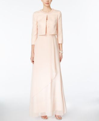 Tahari ASL Embellished Gown and Jacket