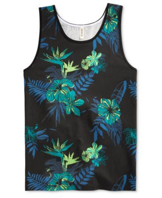 Univibe Men's Madness Tropical-Print Tank