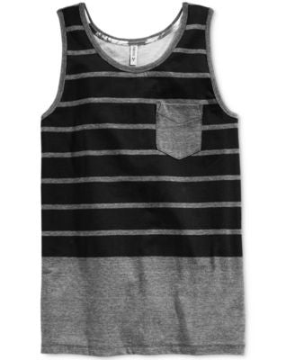 Univibe Men's Watson Colorblocked Stripe Pocket Tank