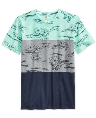 Univibe Men's Juanito Colorblocked Pieced Floral-Print T-Shirt