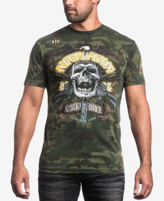 Affliction Men's Commando Camouflage Graphic-Print Logo T-Shirt