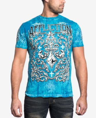 Affliction Men's Integrate Reversible Graphic-Print Logo T-Shirt