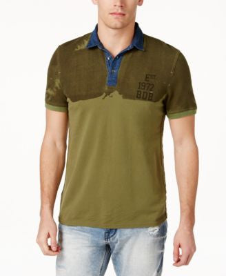 Buffalo David Bitton Men's Nirare Colorblocked Graphic-Print Polo