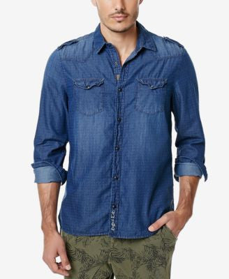 Buffalo David Bitton Men's Siblin Denim Chambray Button-Front Shirt