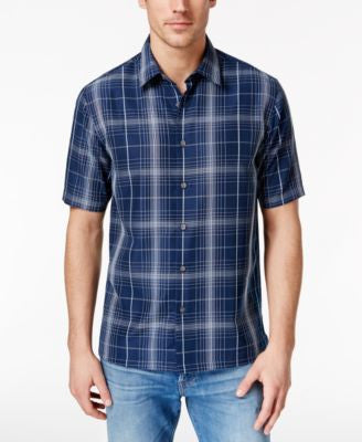 John Ashford Men's Stanton Plaid Short-Sleeve Shirt, Only at Vogily