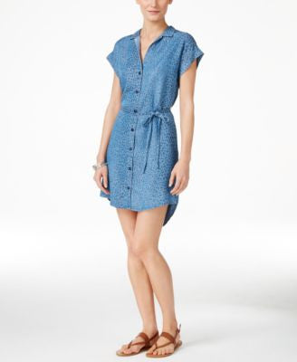 Grace Elements Tencel Cap-Sleeve Shirtdress